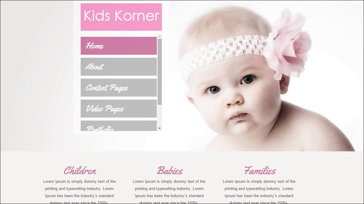 Photograohy Template Kids Korner