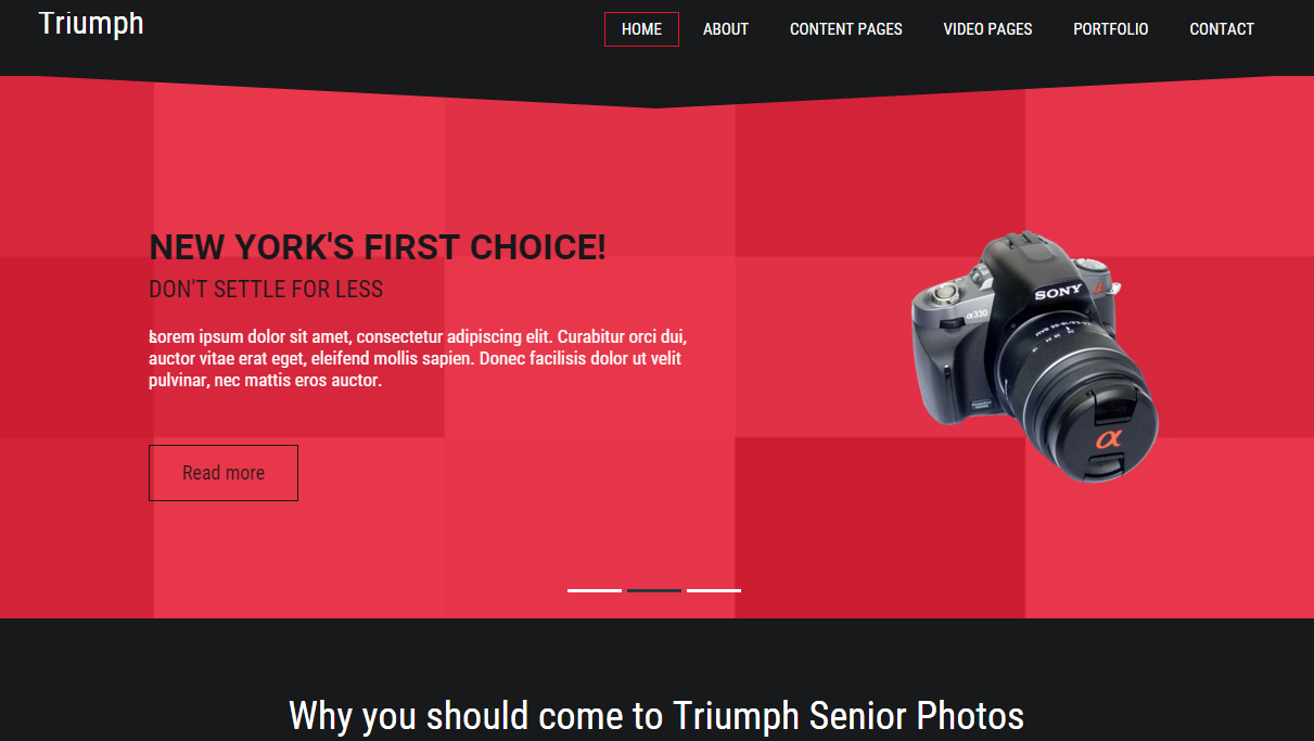 Photography Template Triumph